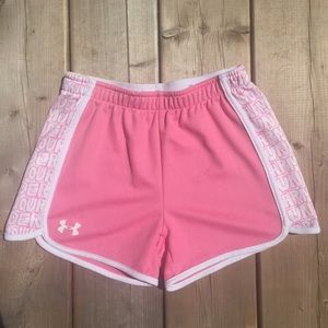 Pink Under Armour Athletic Shorts